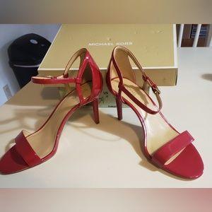 Michael Kors Scarlet Simone Mid Sandal Heels 9 NWT